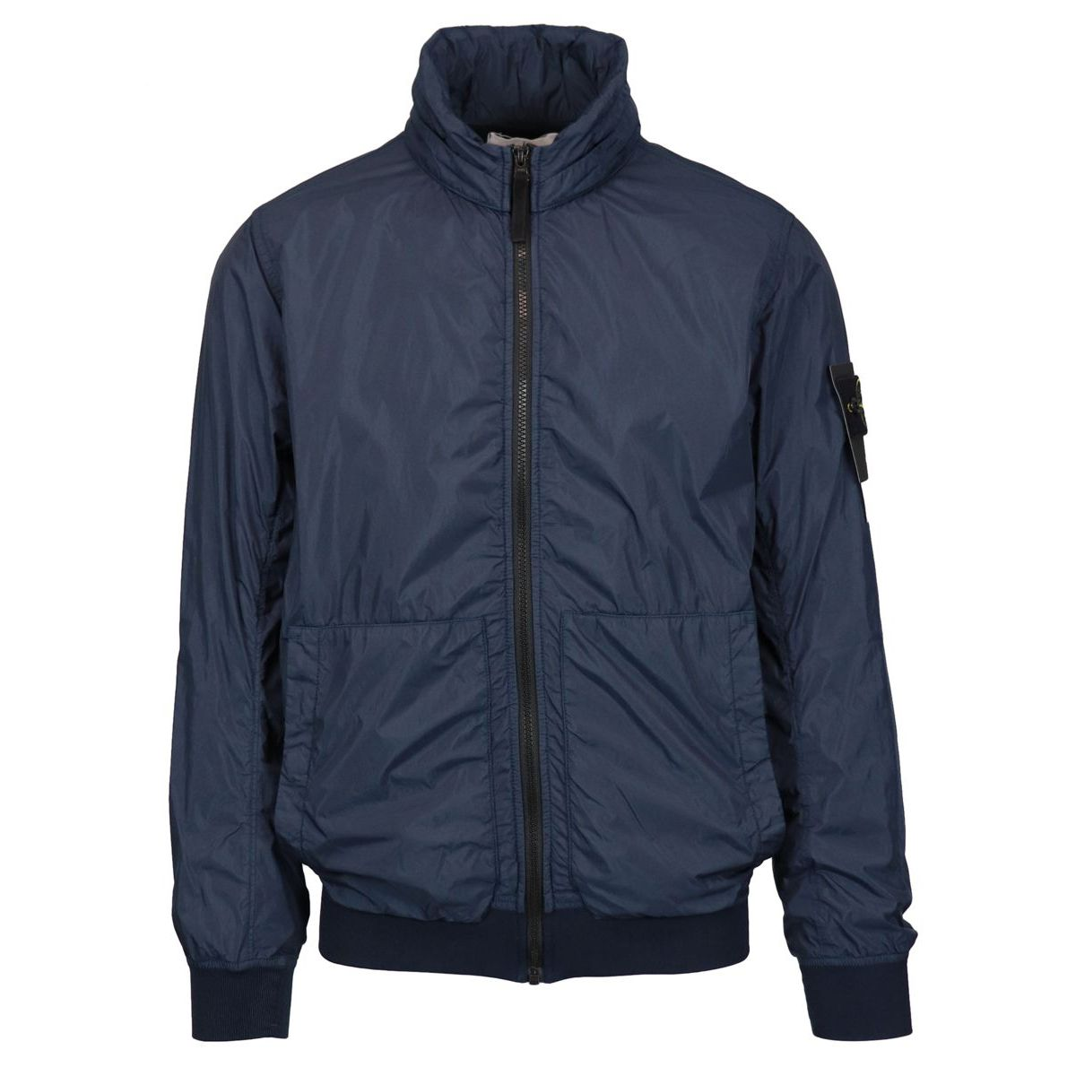 Garment Arment Dyed Crinkle nylon jacket Blue Stone Island