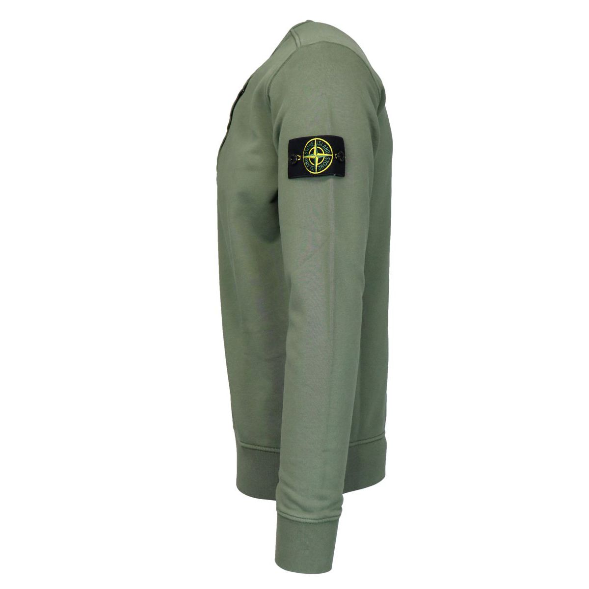 Crewneck sweatshirt with zip pocket on the chest Olive Stone Island