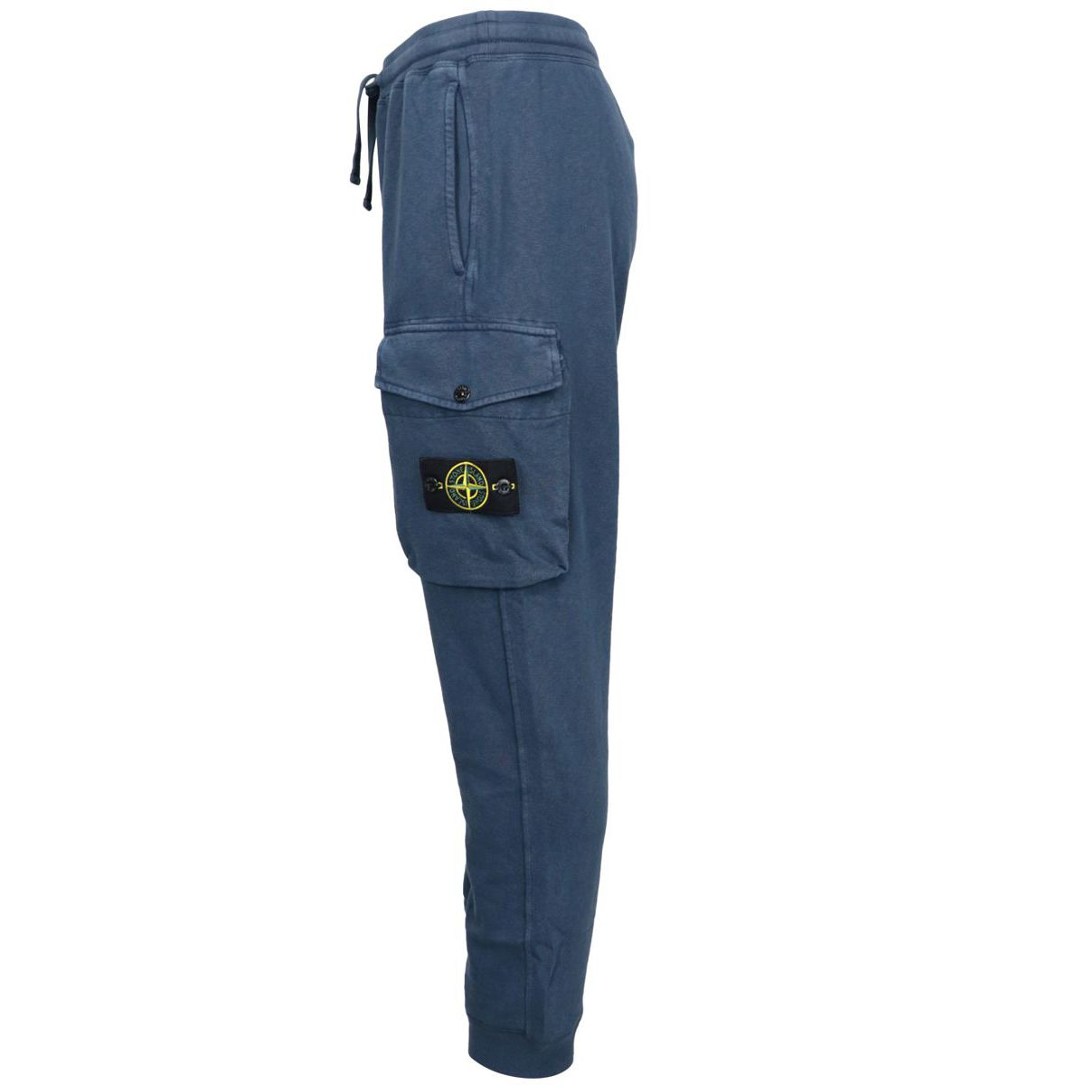 Cotton fleece trousers with drawstring Navy Stone Island