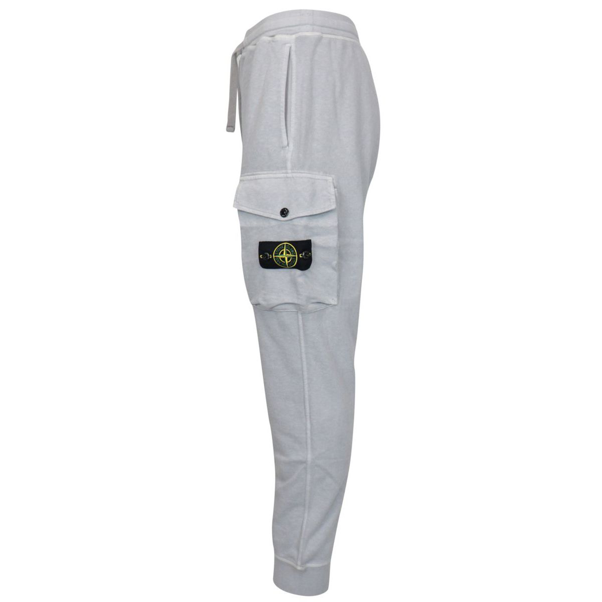 Cotton fleece trousers with drawstring Powder Stone Island