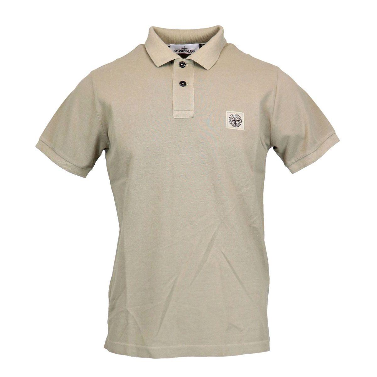 Slim-fit polo shirt in iridescent cotton pique Bark Stone Island