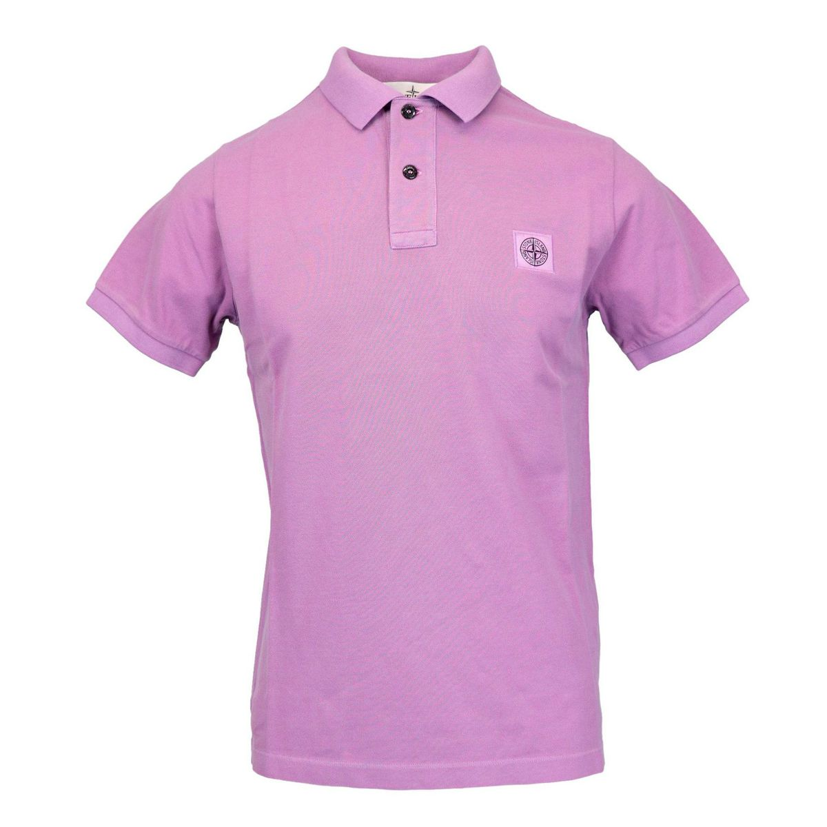 Slim-fit polo shirt in iridescent cotton pique Rose Stone Island