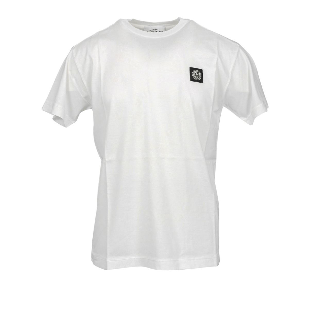 Cotton t-shirt with small logo White Stone Island