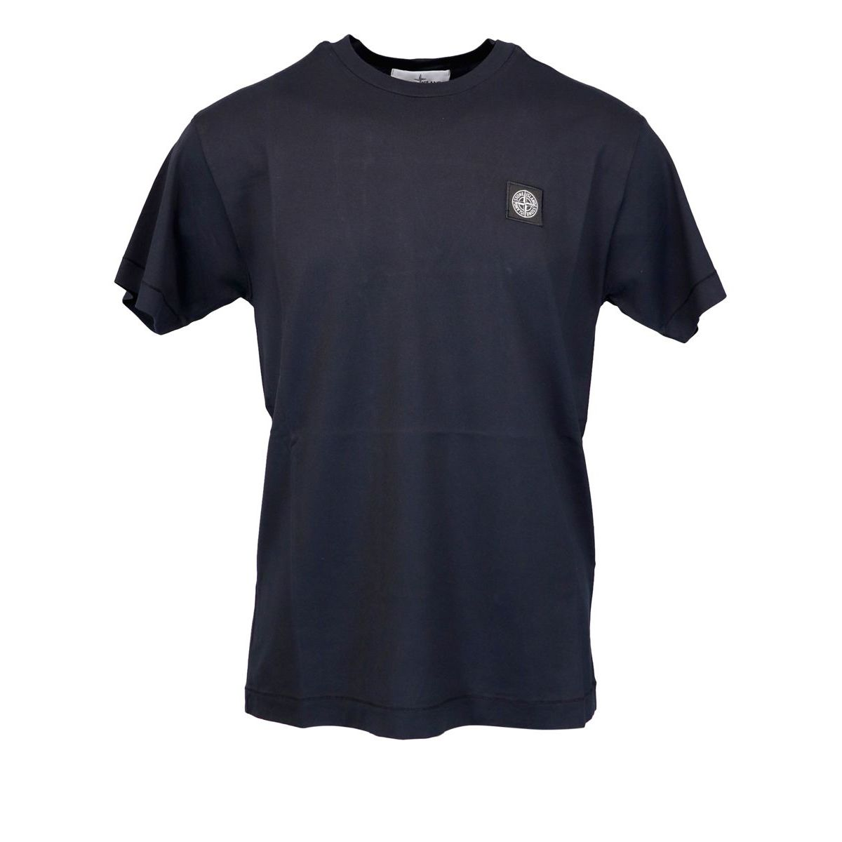 Cotton t-shirt with small logo Black Stone Island