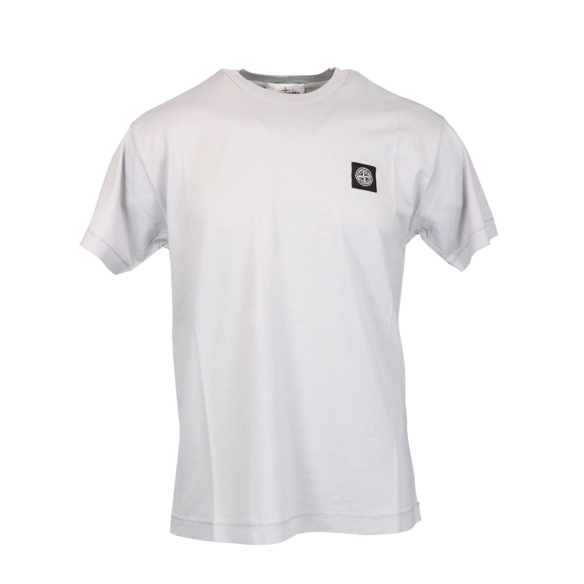 Cotton t-shirt with small logo Powder Stone Island
