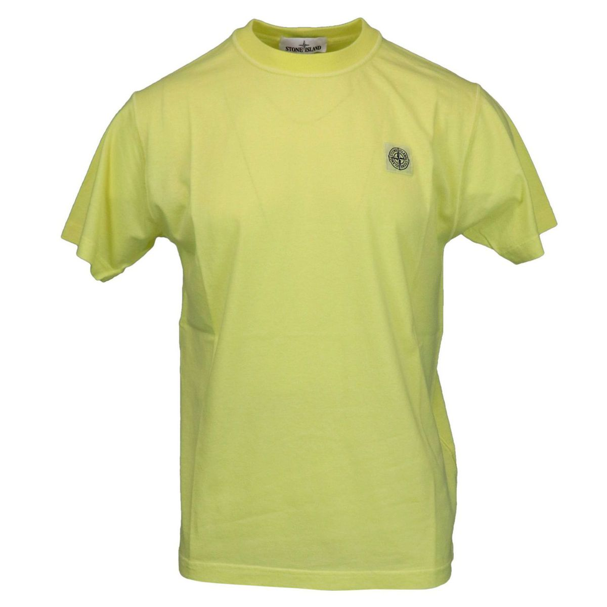 Cotton t-shirt with logo patch on the chest Lemon Stone Island