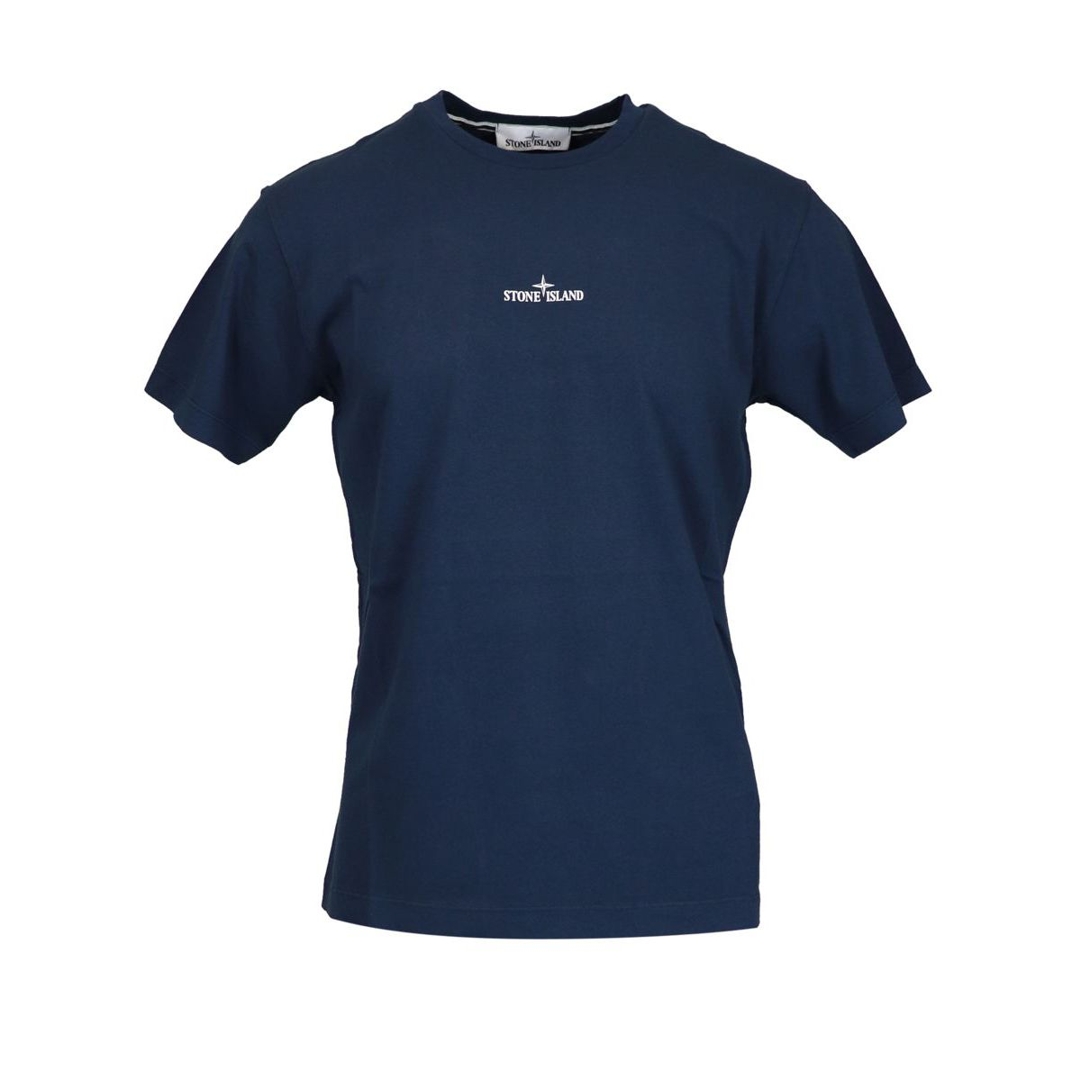 Cotton T-shirt with print on the back Marine blue Stone Island
