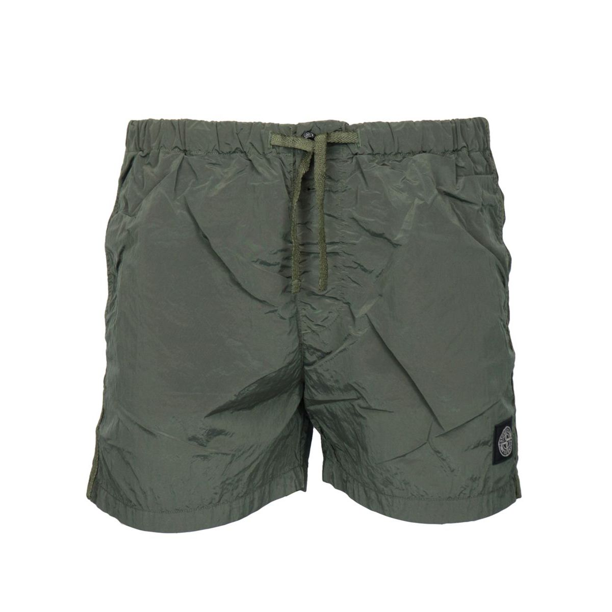 """Metal effect"" nylon swimsuit Olive Stone Island"