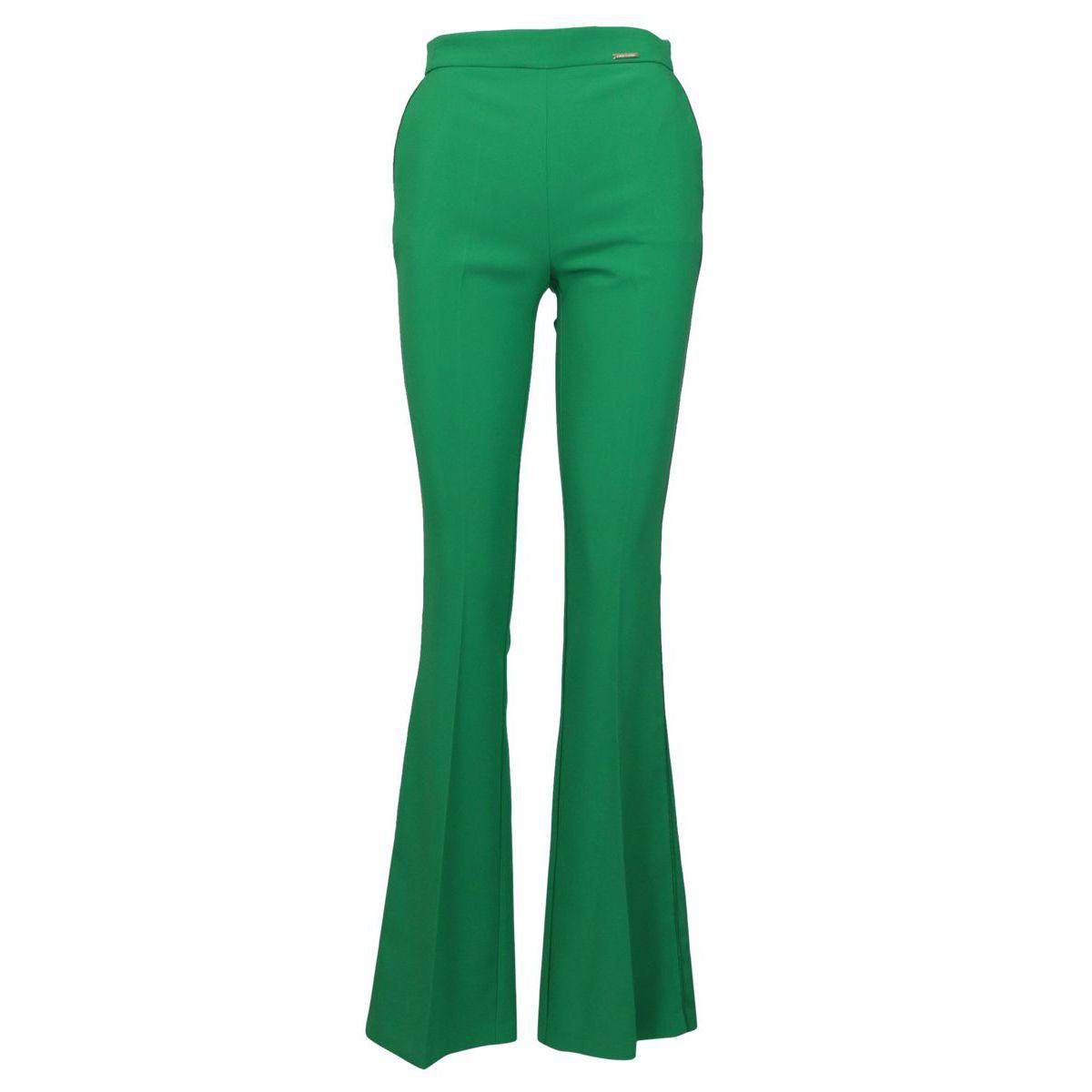 High waist trousers in bielastic fabric Mint Elisabetta Franchi