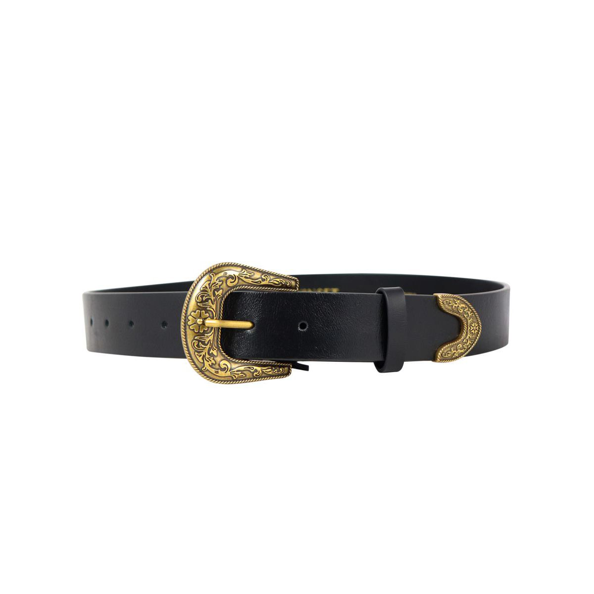 Leather belt with decorated buckle Black Twin-Set