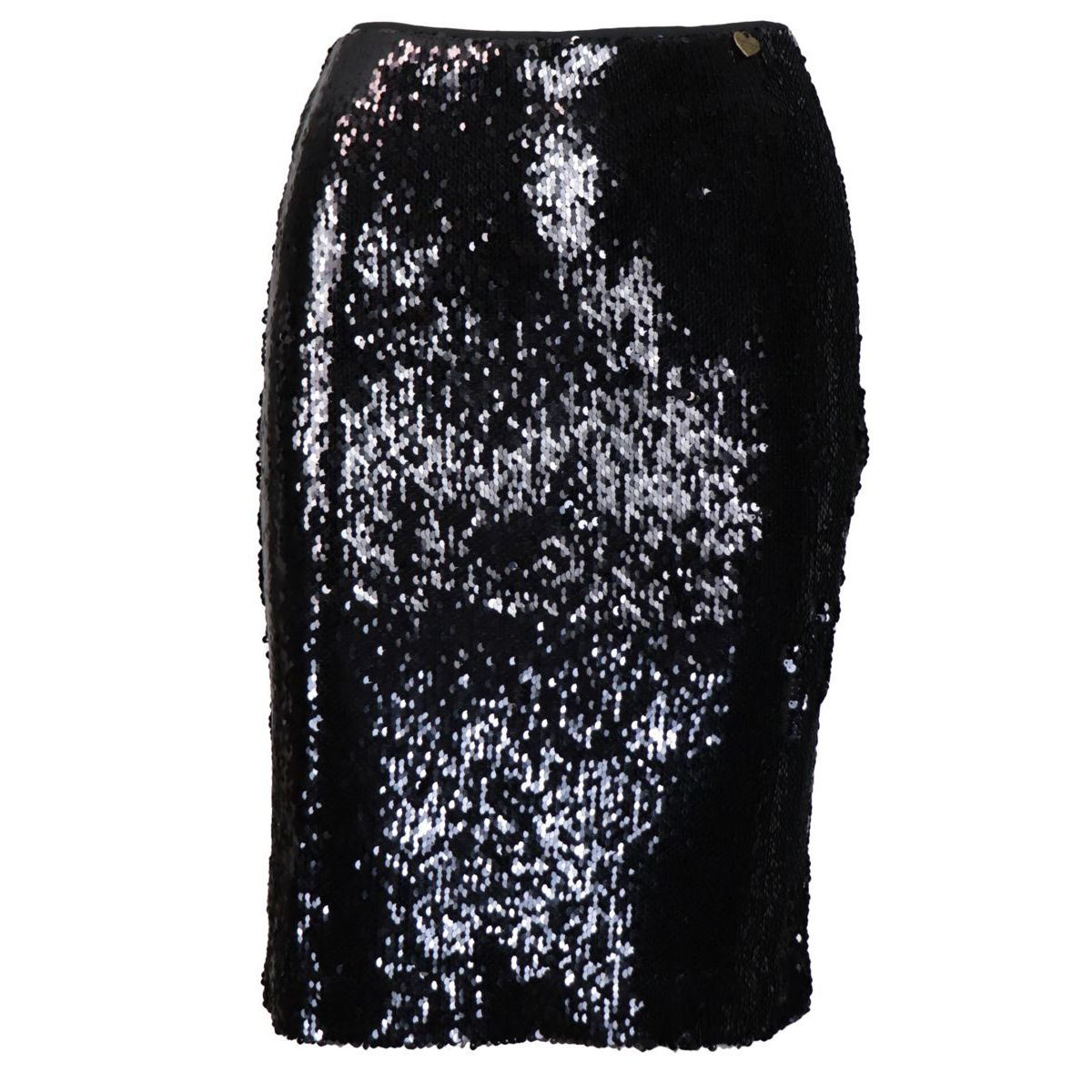 Full sequined viscose pencil skirt Black Twin-Set