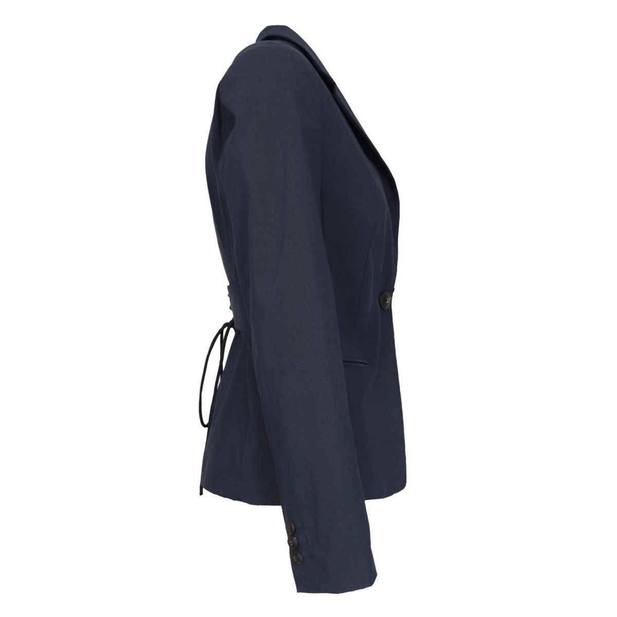 One button screwed jacket in viscose blend Blue Twin-Set