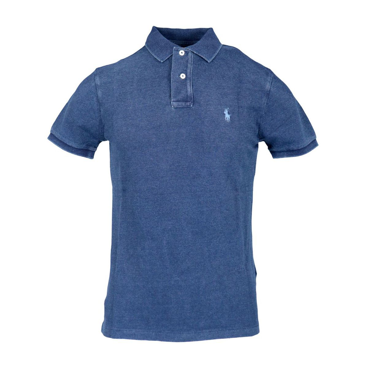 Cotton polo shirt with two buttons Custom Fit Denim Polo Ralph Lauren