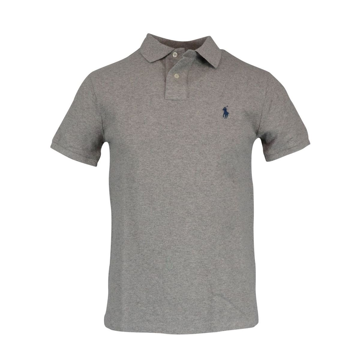 Cotton polo shirt with two buttons Custom Fit Grey Polo Ralph Lauren