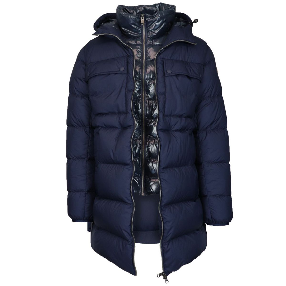 Long flack down jacket Navy Colmar