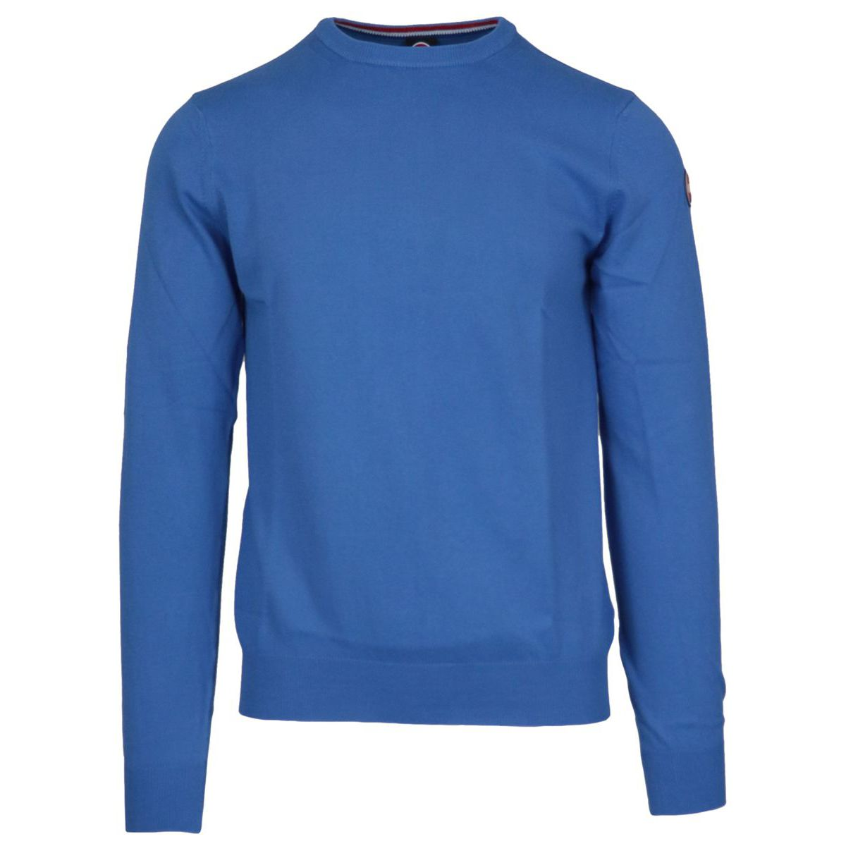 Crew neck cotton pullover with ribbed profiles Royal Colmar
