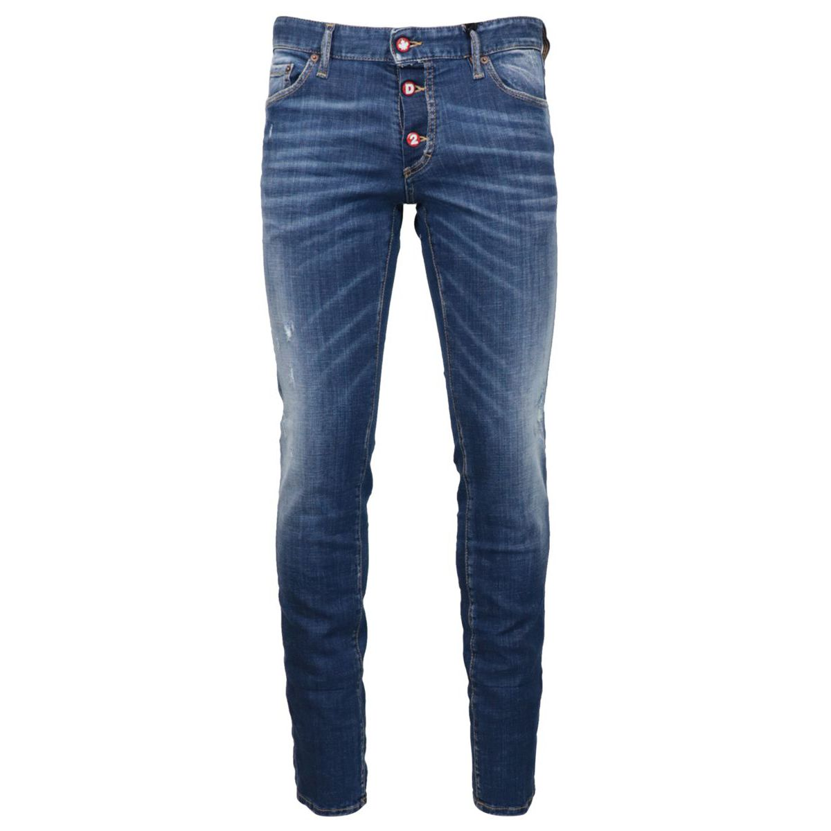 Five pocket SLIM jeans with visible buttons Denim Dsquared2