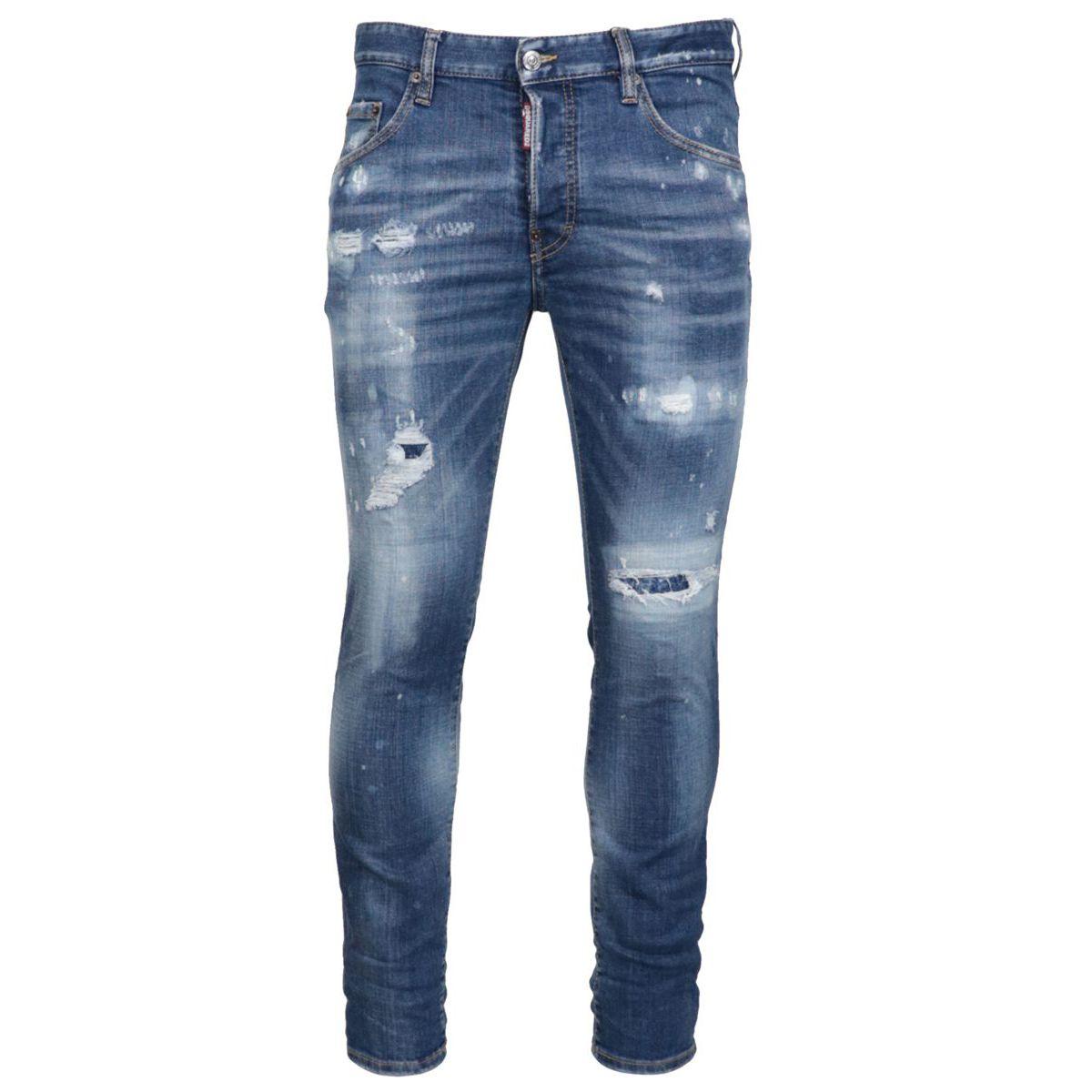Five pocket SKATER jeans with breaks Light denim Dsquared2