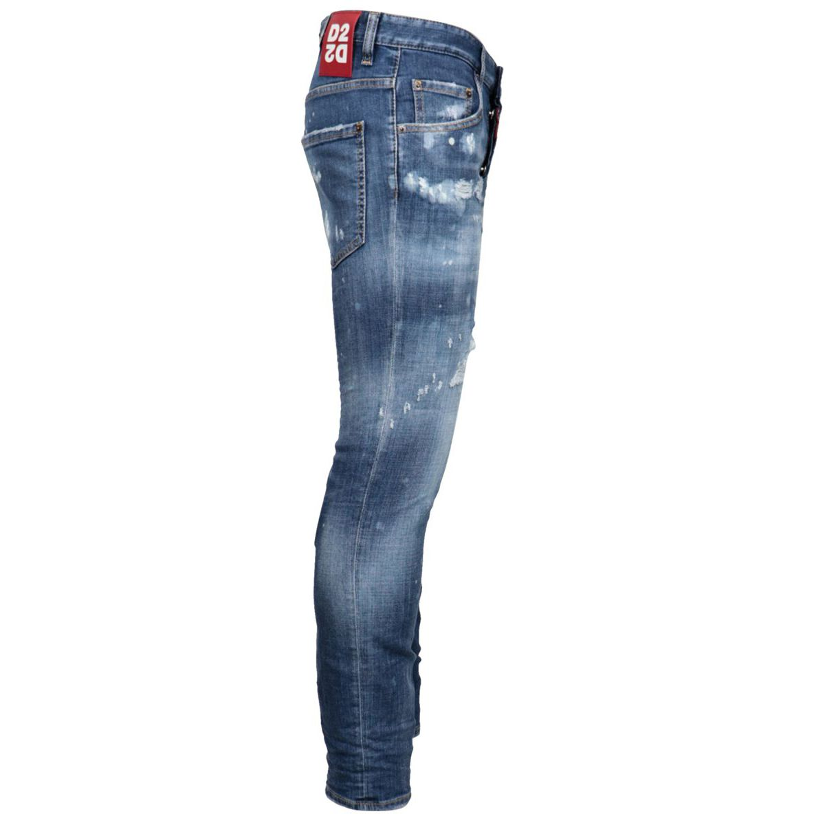 Five pocket SKATER jeans with breaks Light denim Dsquared2