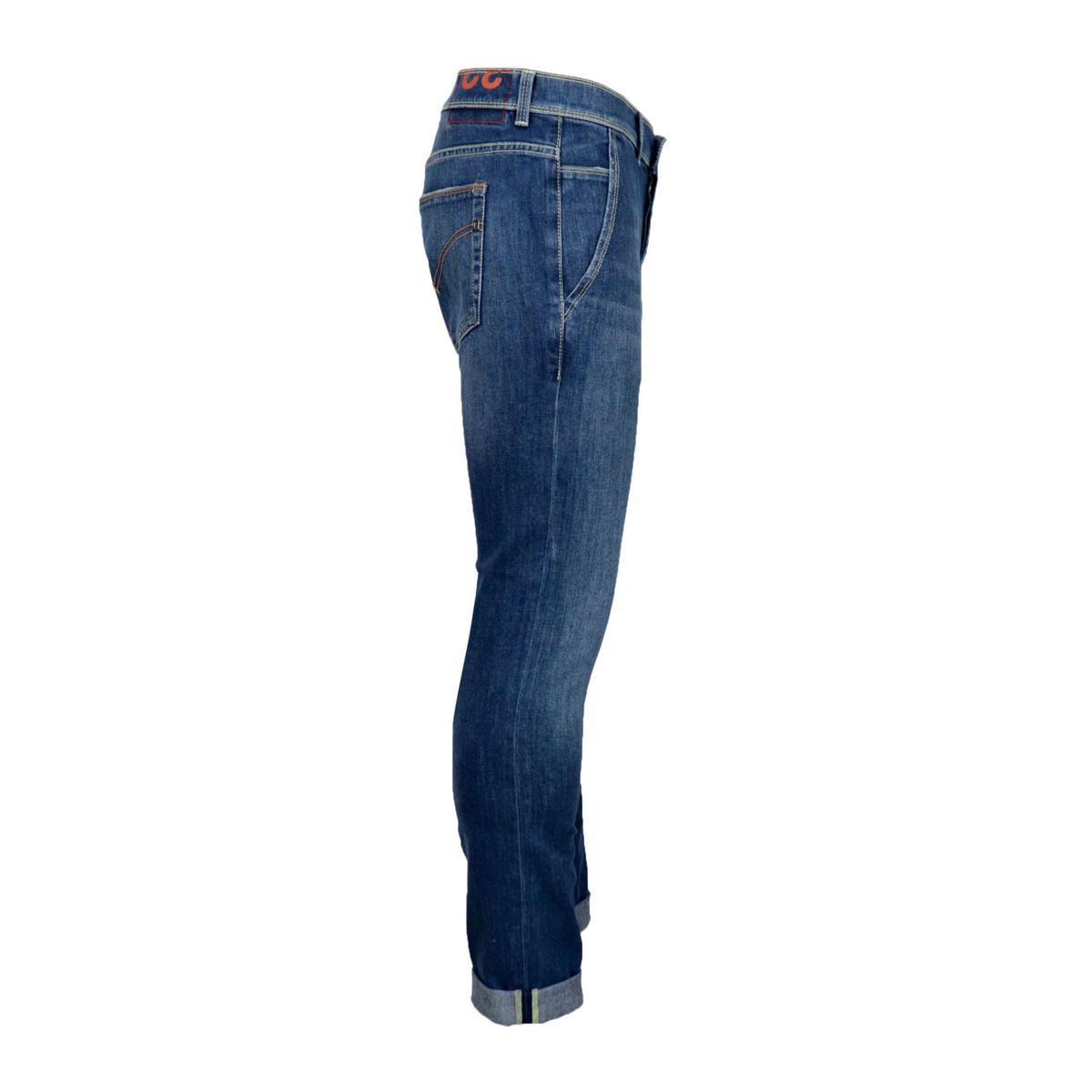 Konor jeans in medium denim with America pockets Denim Dondup