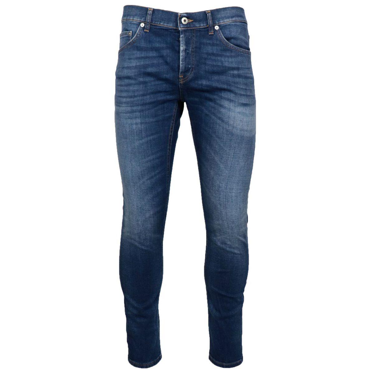 Used-effect slim-fit Mius jeans in stretch denim Denim Dondup