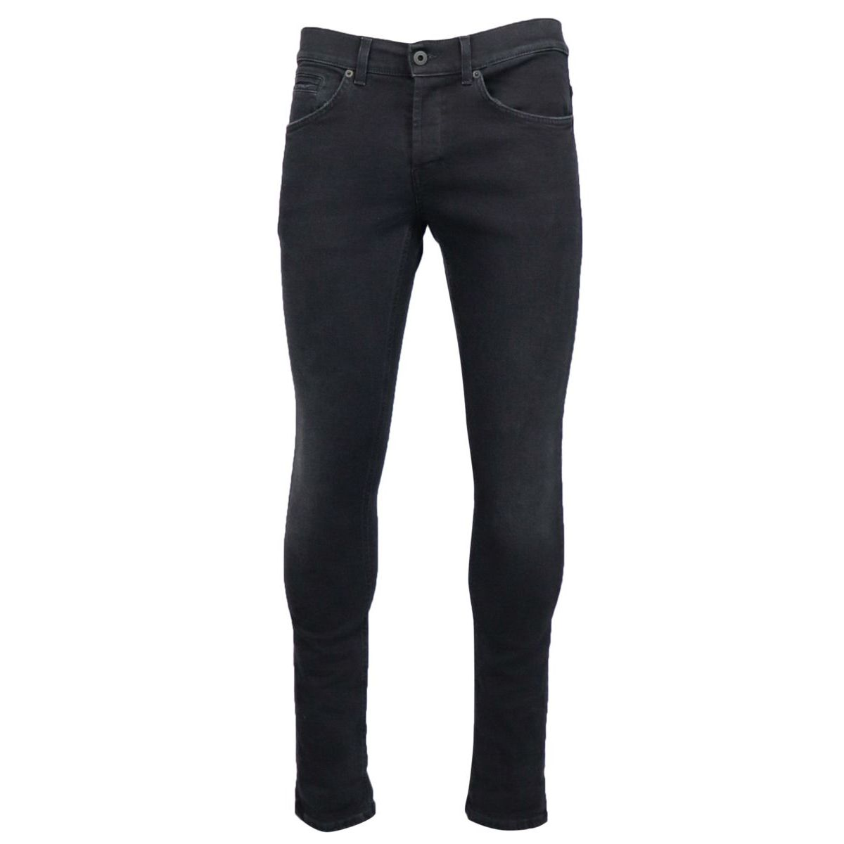 George skinny jeans in stretch cotton Black Dondup