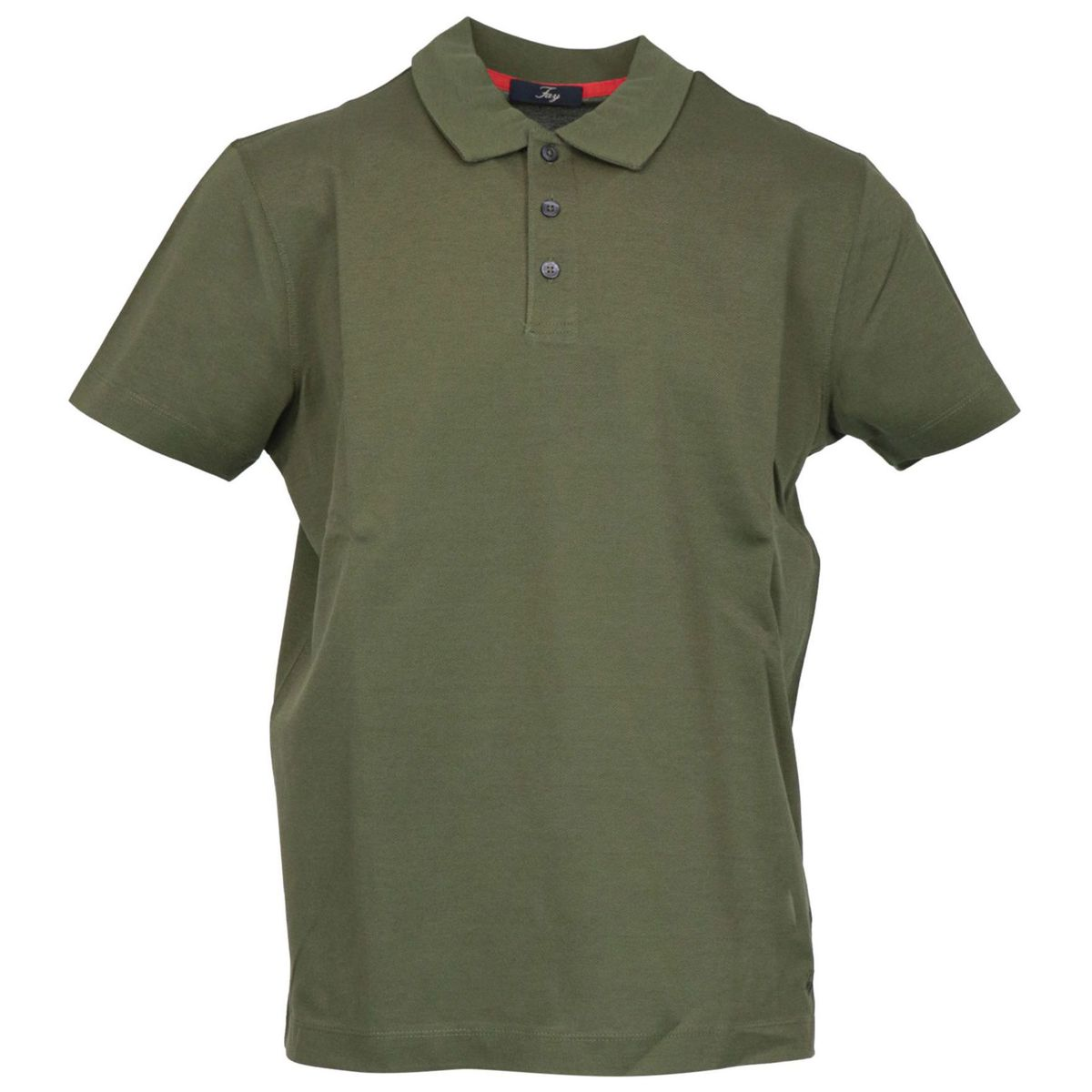 Regular-fit polo shirt in three-button cotton Bosco Fay