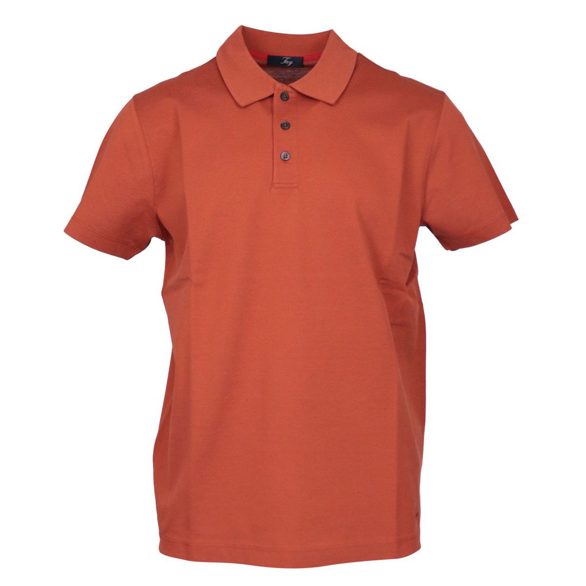 Regular-fit polo shirt in three-button cotton Cotto Fay