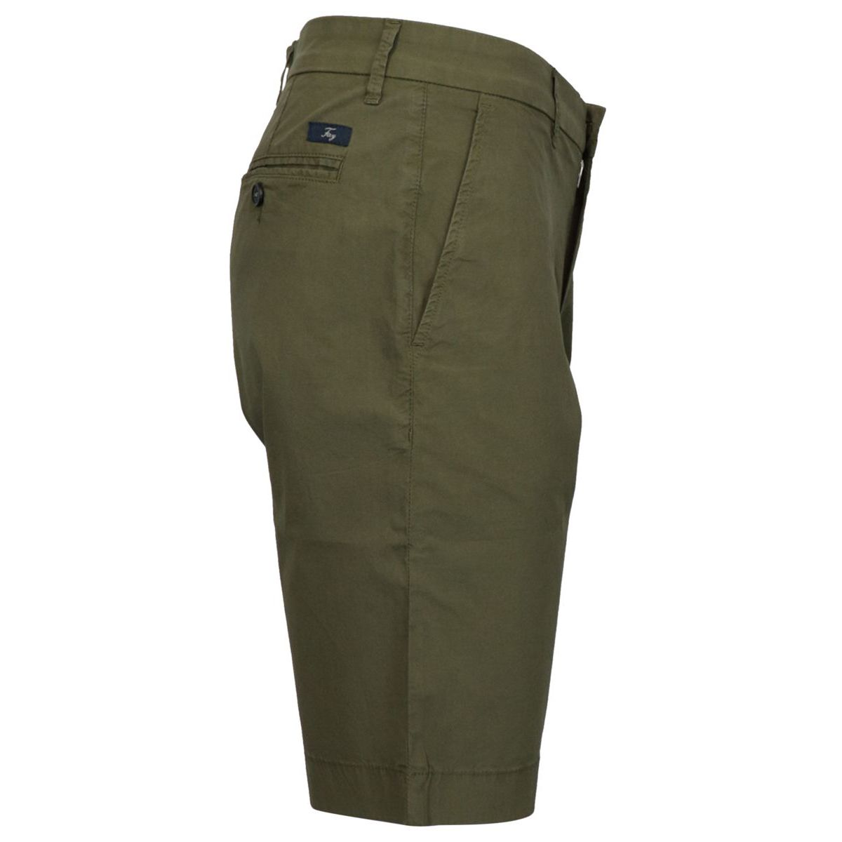 Garment-dyed cotton CHINO shorts Olive Fay