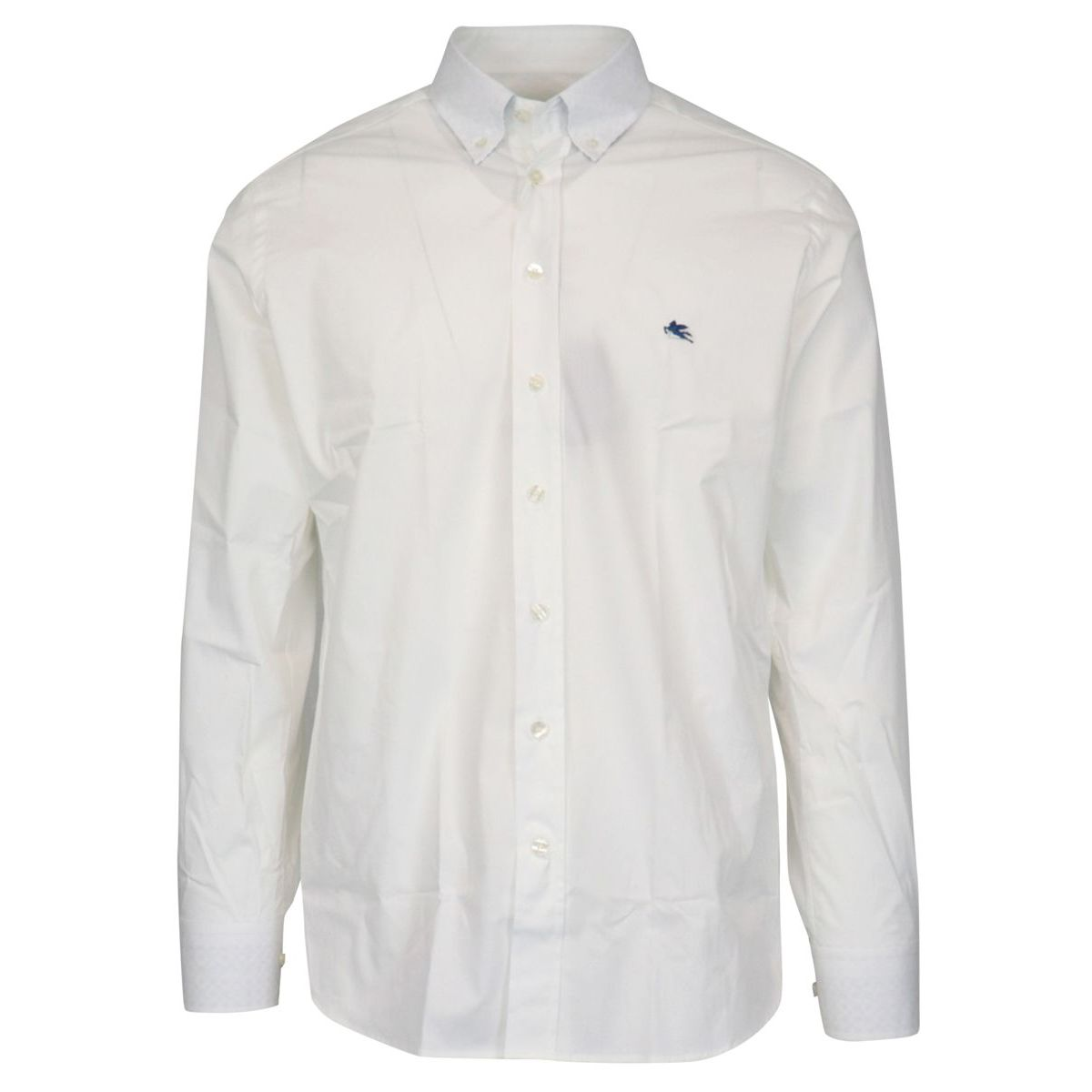 Regular-fit button-down shirt in cotton White Etro