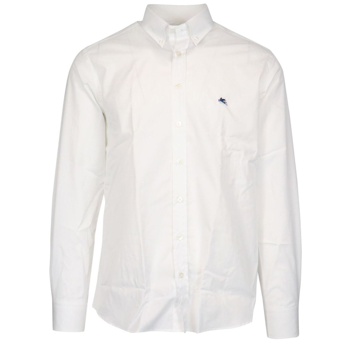 Regular-fit botton down cotton shirt White Etro