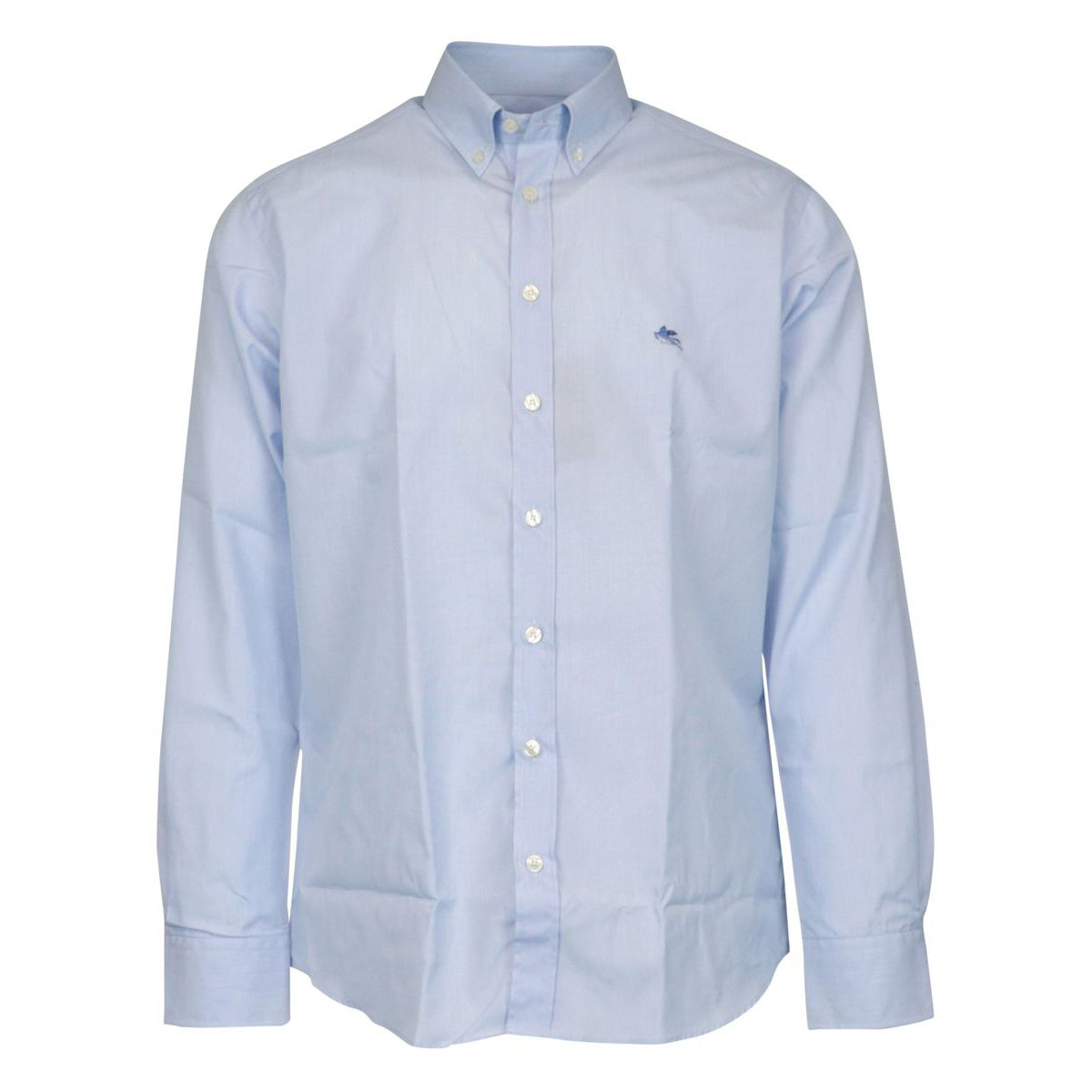 Regular-fit botton down cotton shirt Sky Etro