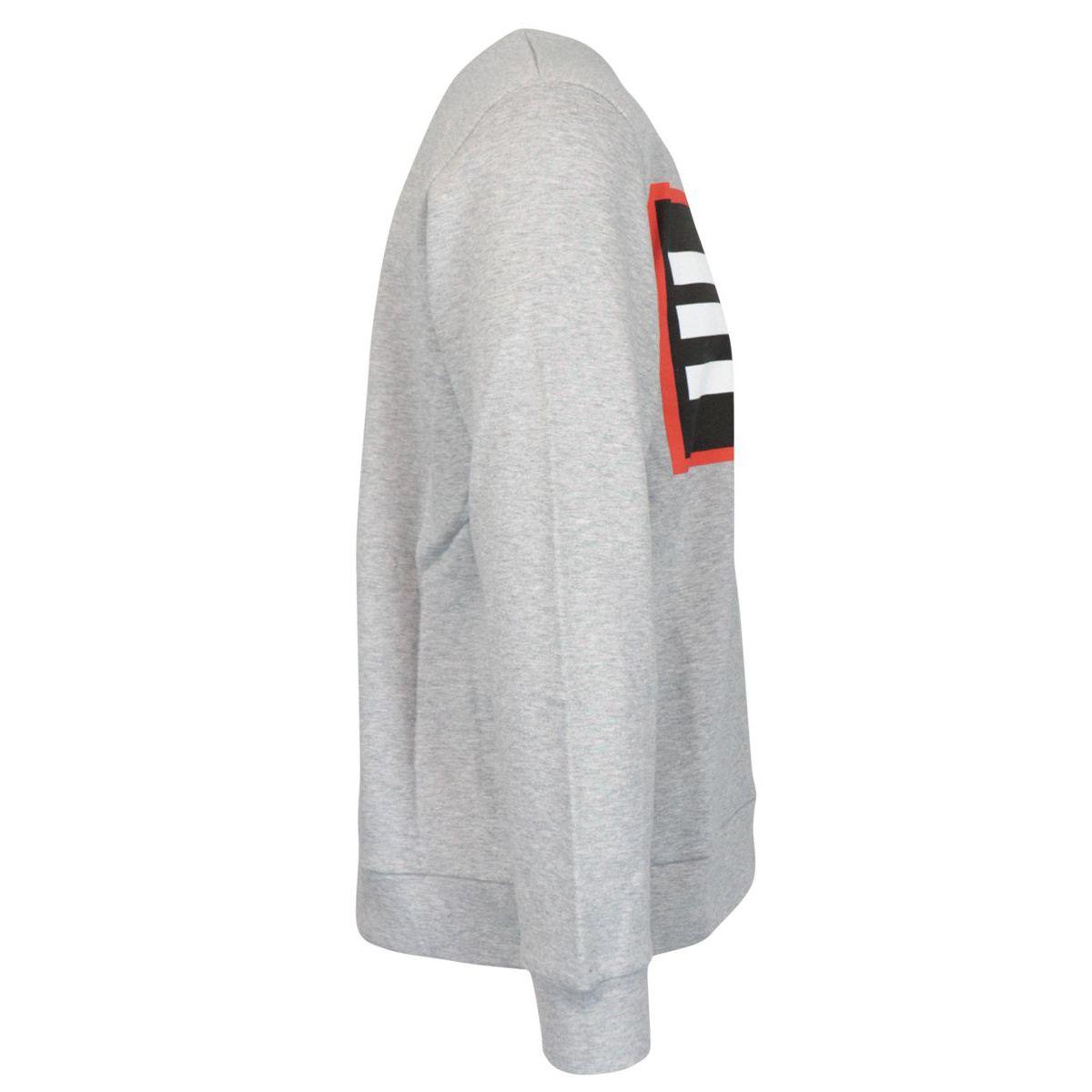 Crewneck cotton sweatshirt with logo print Grey Etro