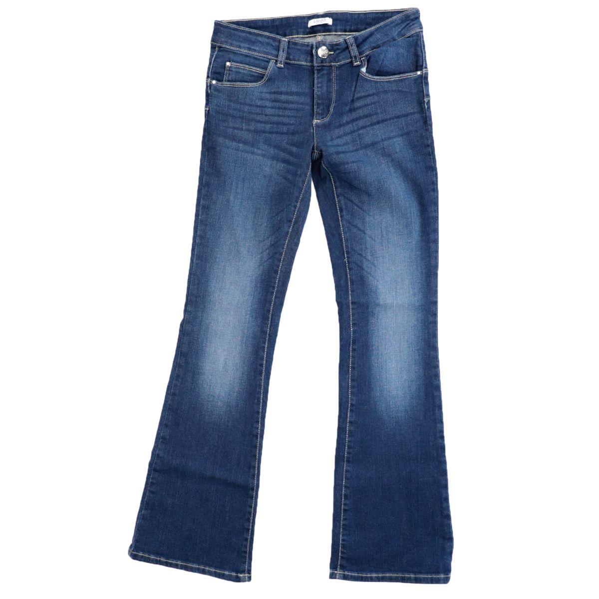 Jeans with stonewash wash and flared leg Medium denim Liu Jo