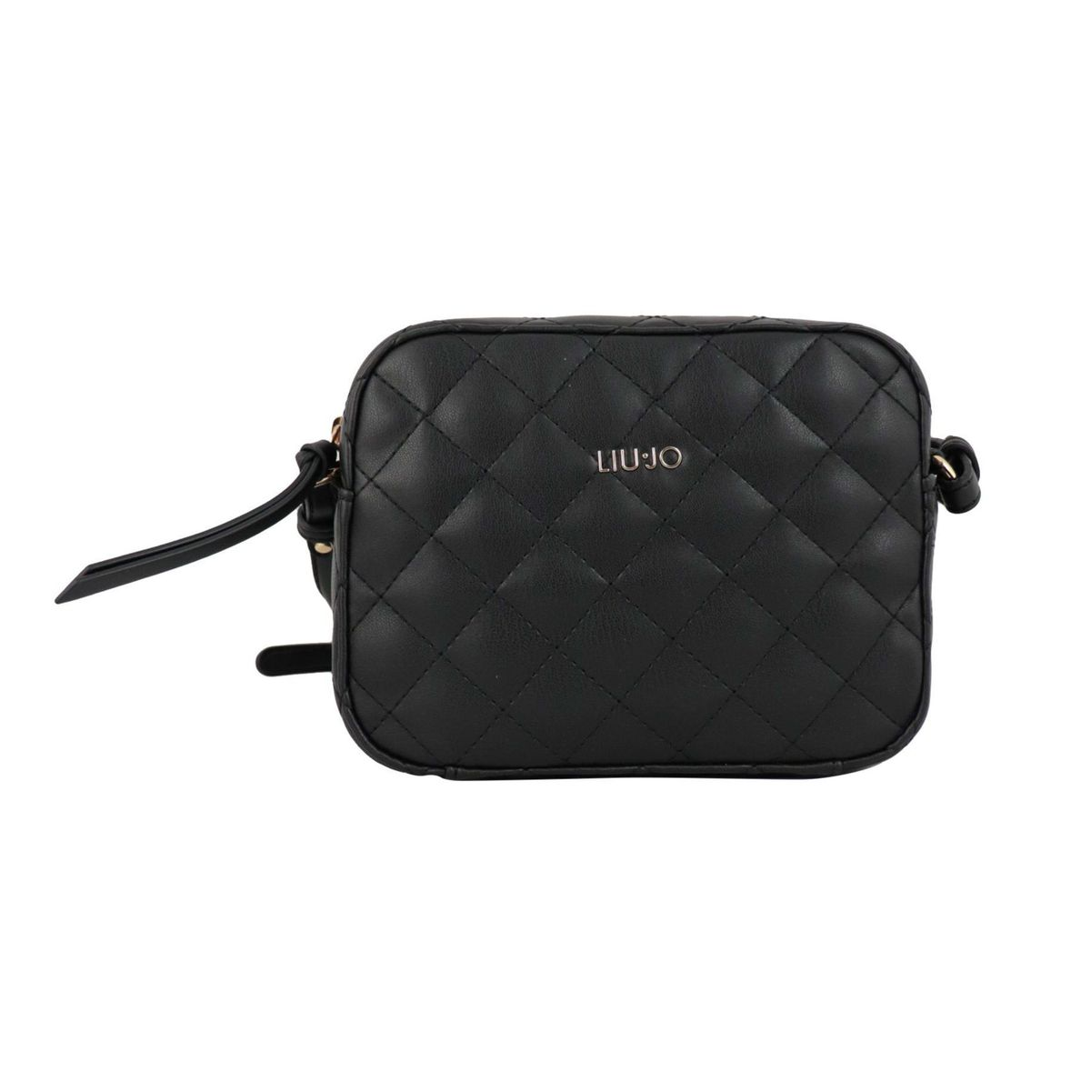 Shoulder bag in matelassé effect imitation leather Black Liu Jo