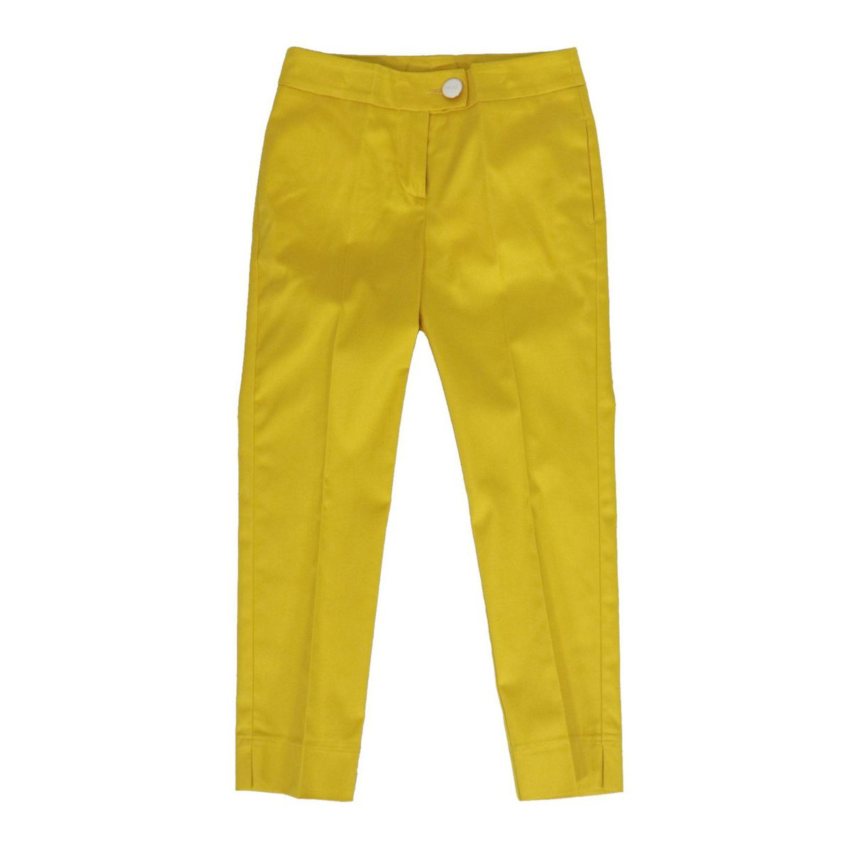 Stretch cotton cigarette trousers Yellow Liu Jo