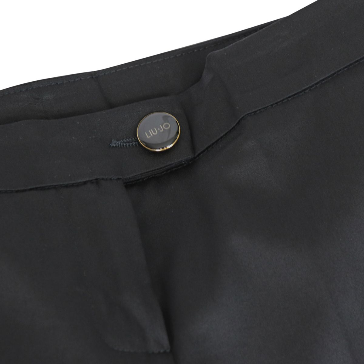 Stretch cotton cigarette trousers Black Liu Jo