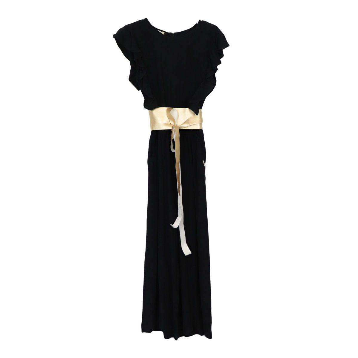 Viscose jumpsuit with sash belt Black Liu Jo