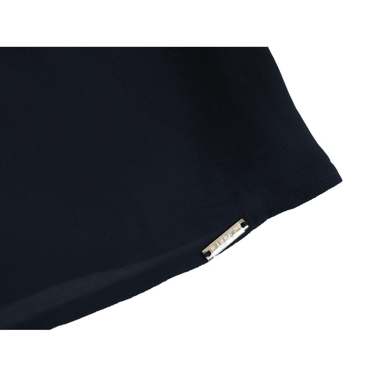 Crepe top with ruffles Blue Liu Jo