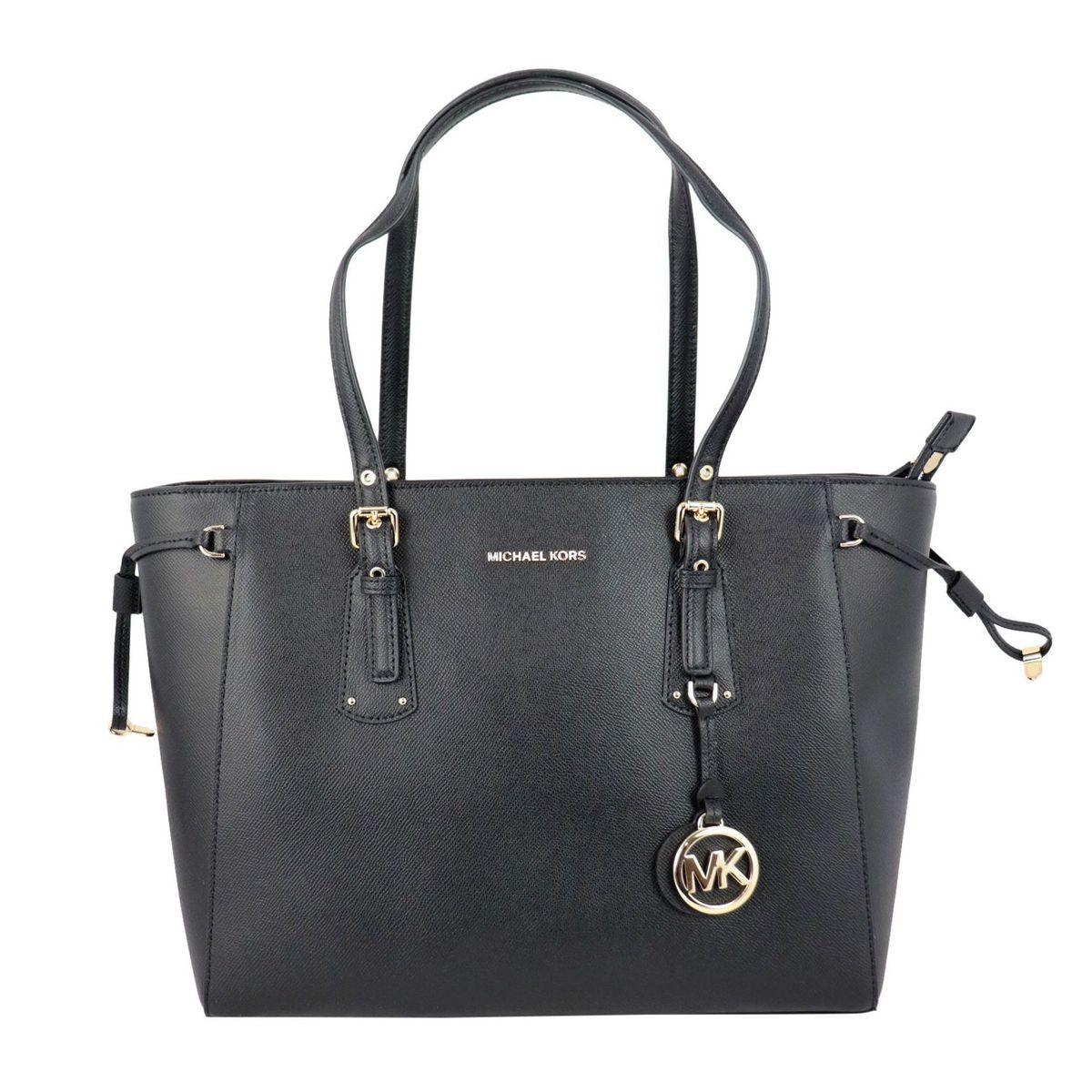 VOYAGER medium leather tote bag Black Michael Kors