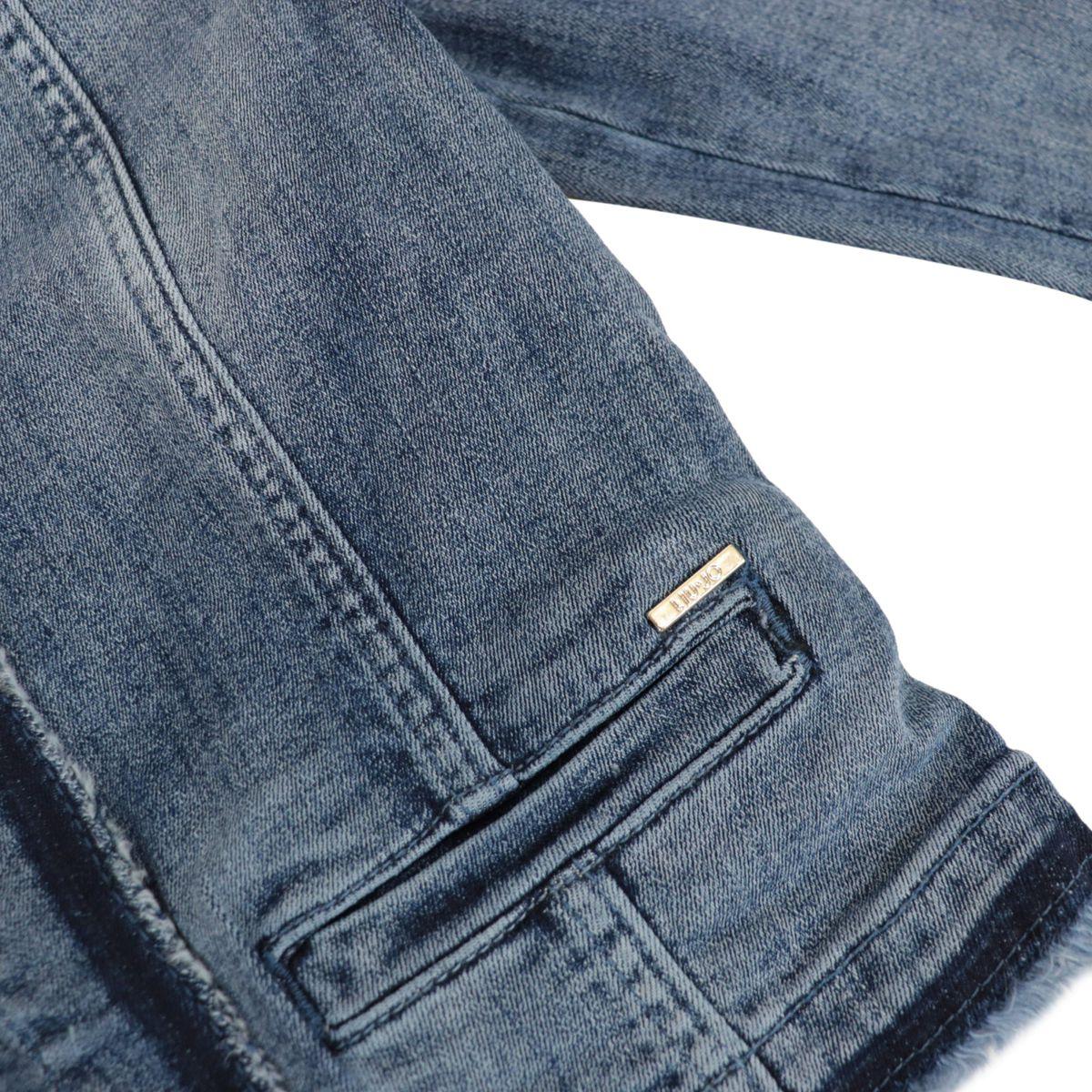 Korean denim jacket with embroidered edges Blue denim Liu Jo