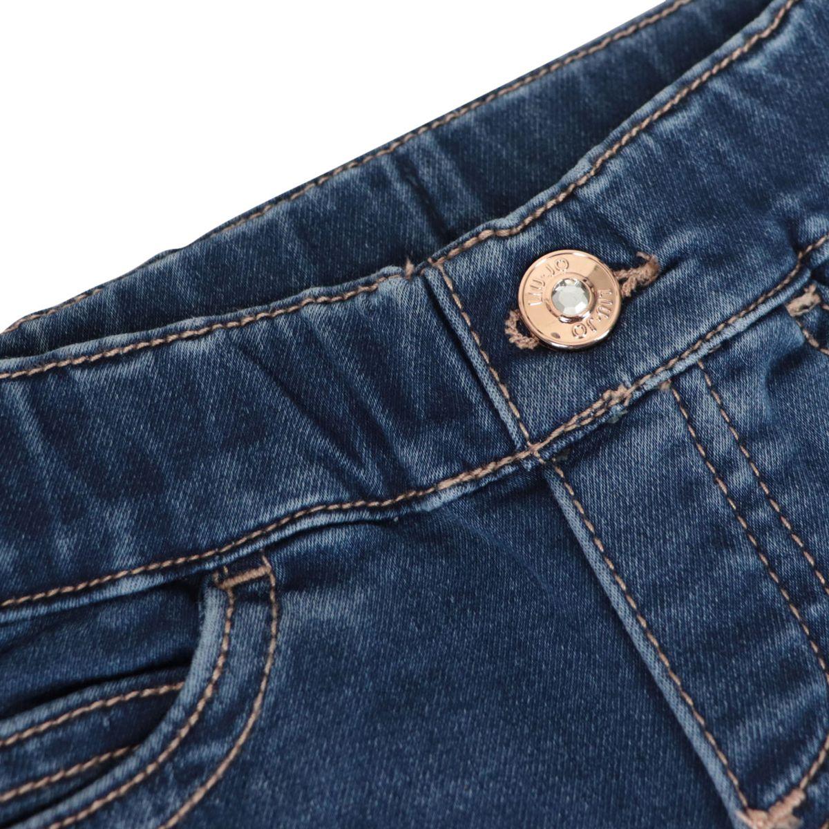 Jeggins with 5 pockets in stretch denim Blue denim Liu Jo