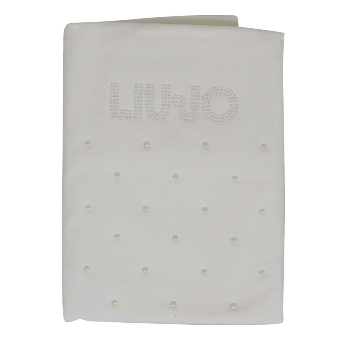 Jersey cover with pearls and logo application White Liu Jo