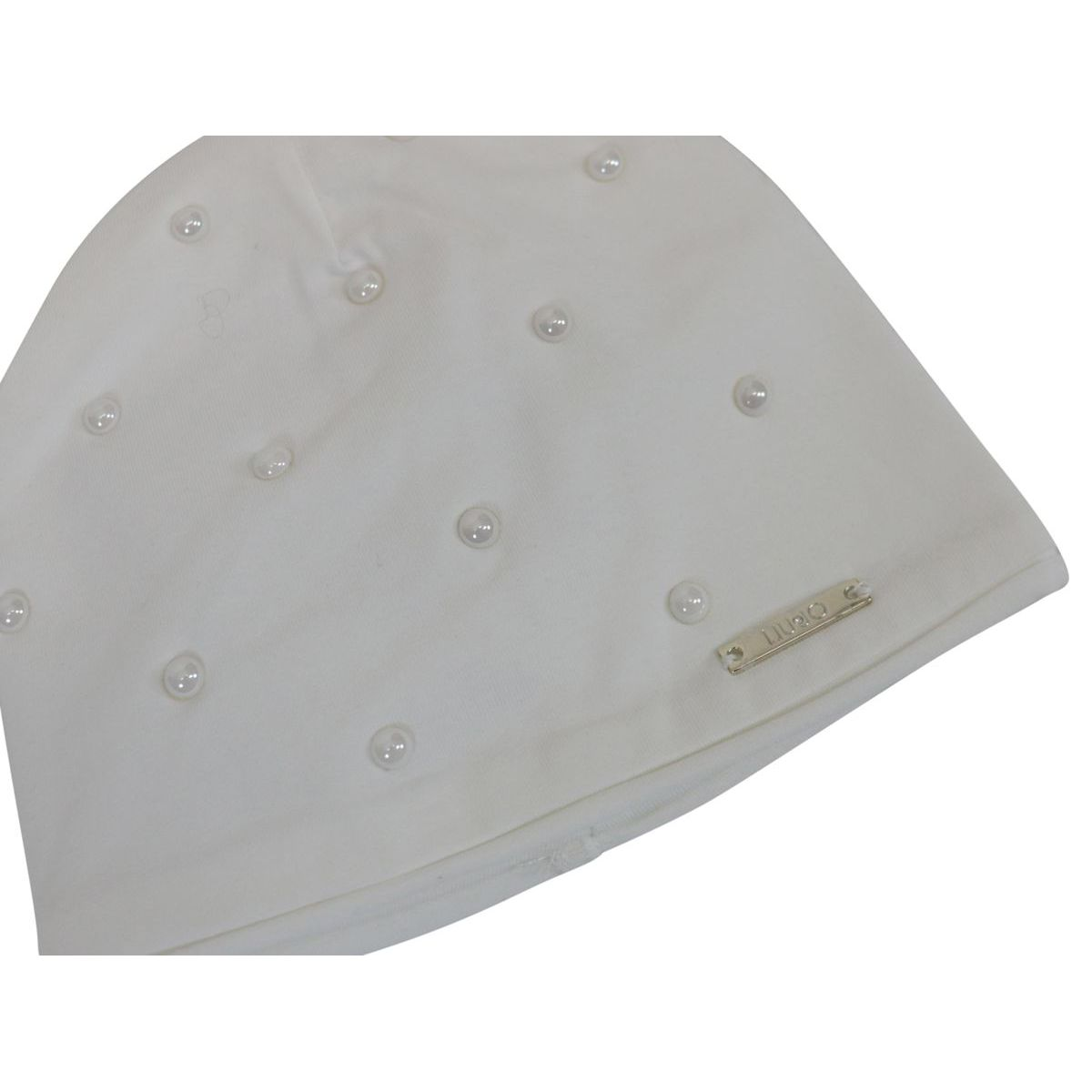 Jersey cap with applied pearls White Liu Jo