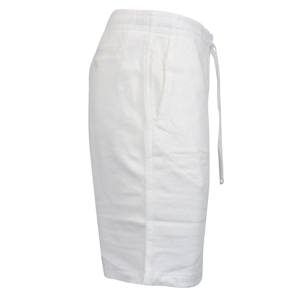 Washed effect cotton fleece bermuda White Polo Ralph Lauren
