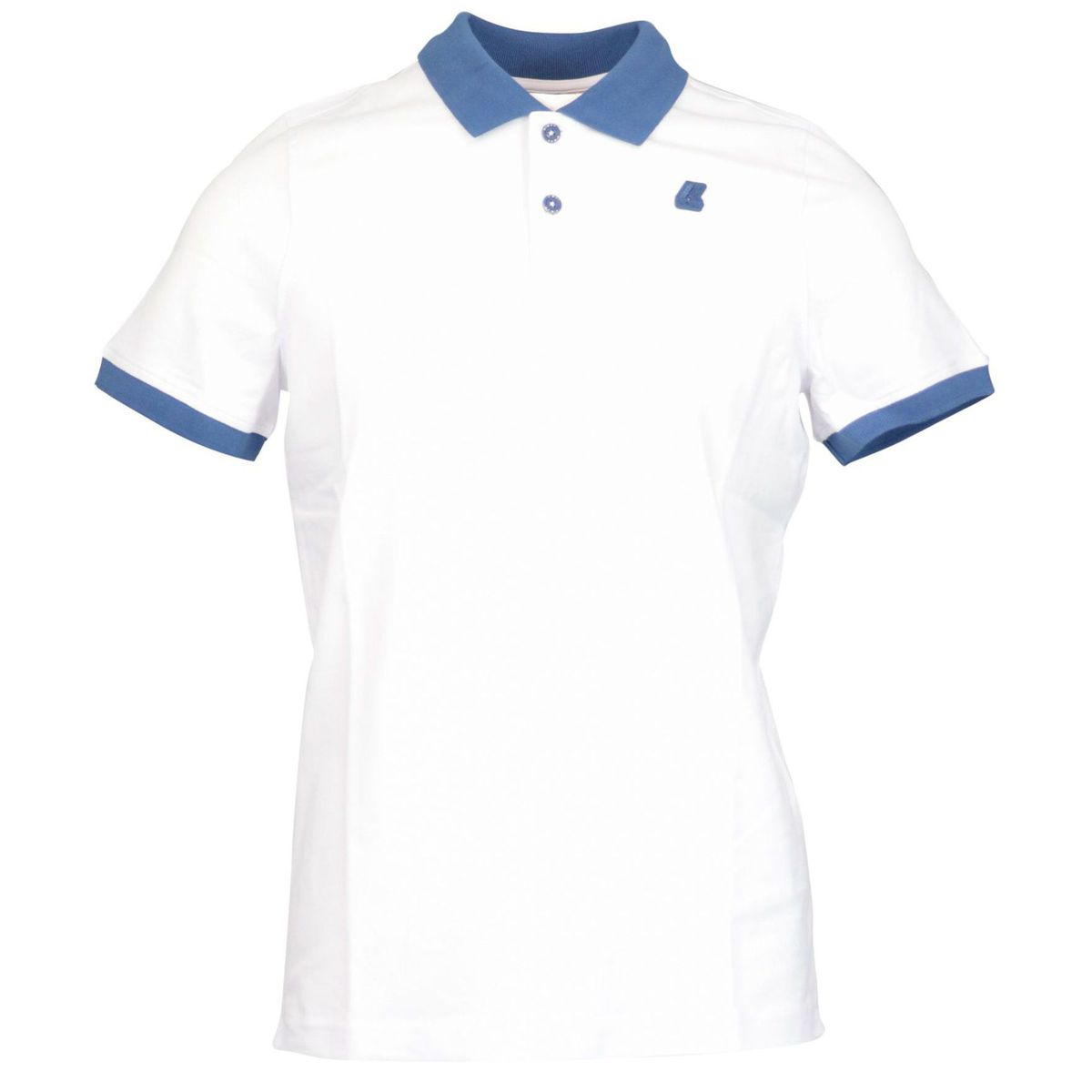 Vincent Bicolor stretch cotton pique polo White K-Way
