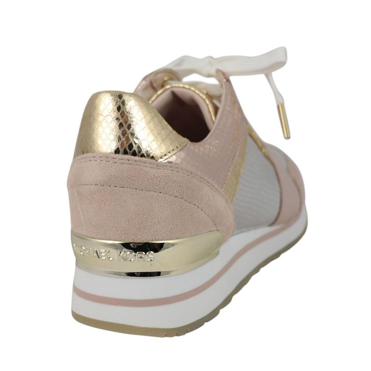 Bi-material sneakers BILLIE TRAINER Pink + arg. Michael Kors