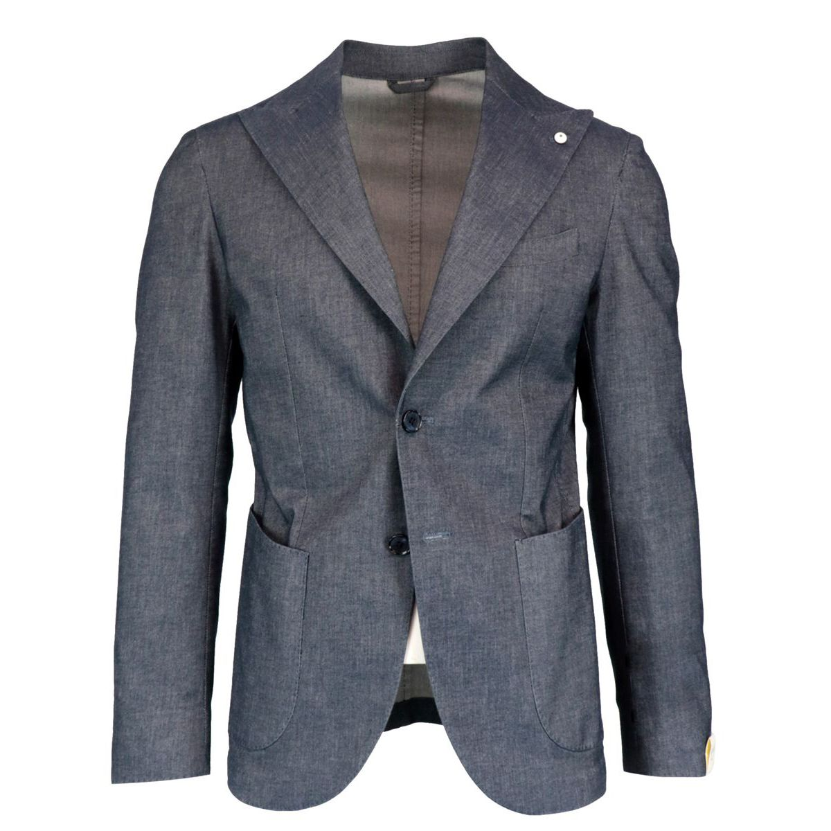Slim jacket in cotton and stretch linen denim effect Denim L.B.M. 1911