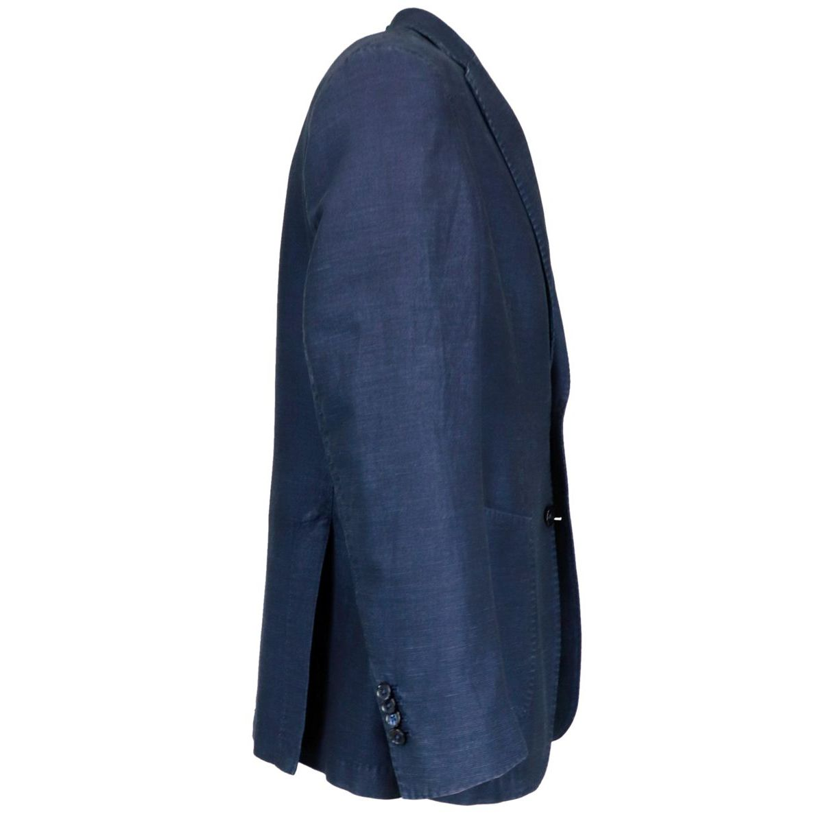 Two-button jacket in linen and cotton Blue L.B.M. 1911