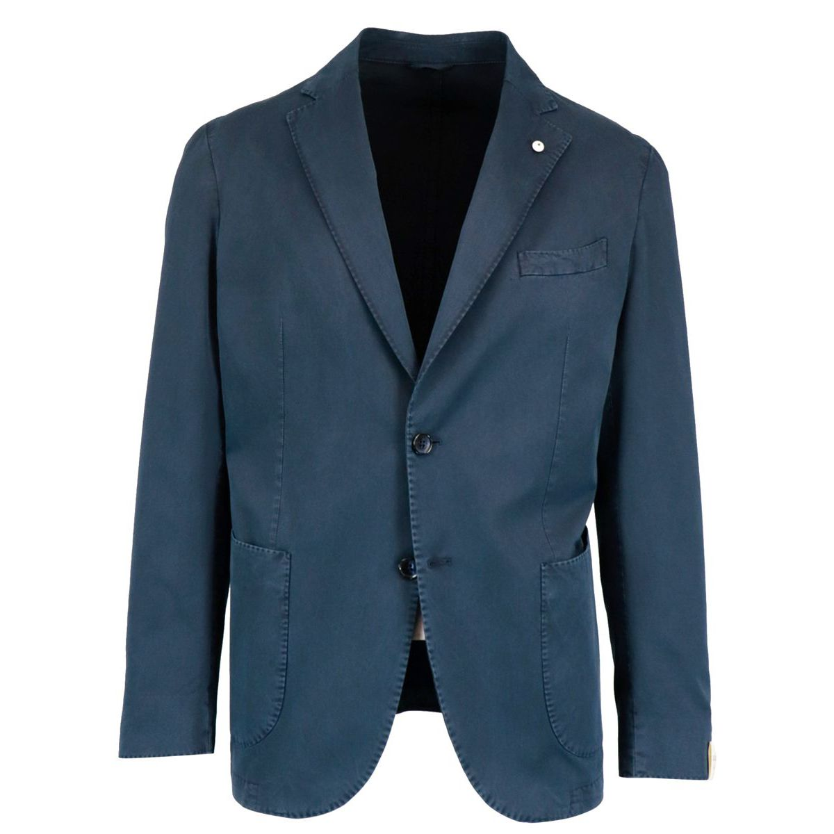 Two-button jacket in cotton and silk Blue L.B.M. 1911